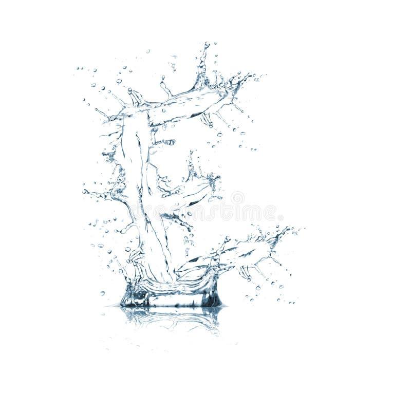Lettre E d'alphabet de l'eau images libres de droits