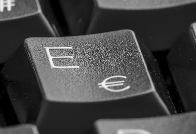Lettre E sur le clavier photo libre de droits