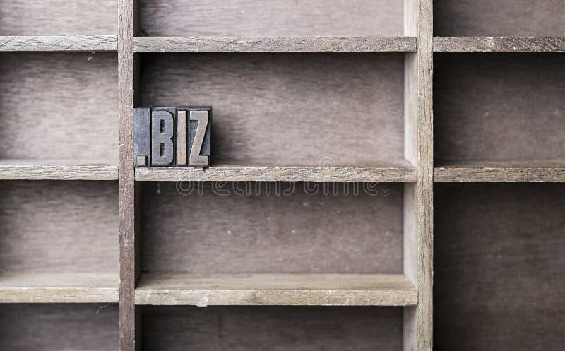 Lettre en bois biz photo libre de droits