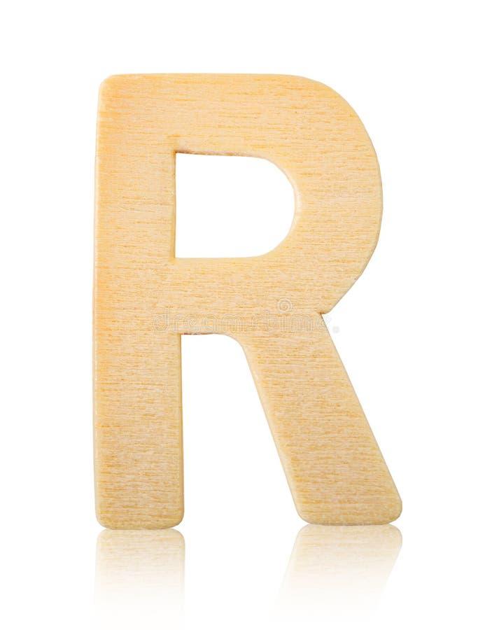 Lettre en bois R de bloc capital simple photos libres de droits