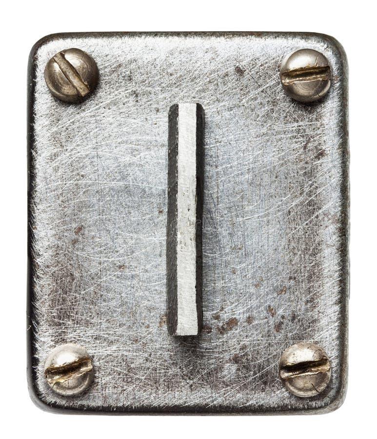 Download Lettre en métal photo stock. Image du métallique, alphabet - 56482660