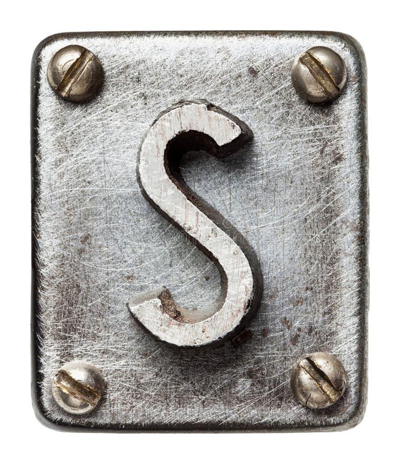Download Lettre en métal image stock. Image du industriel, vieux - 56482715