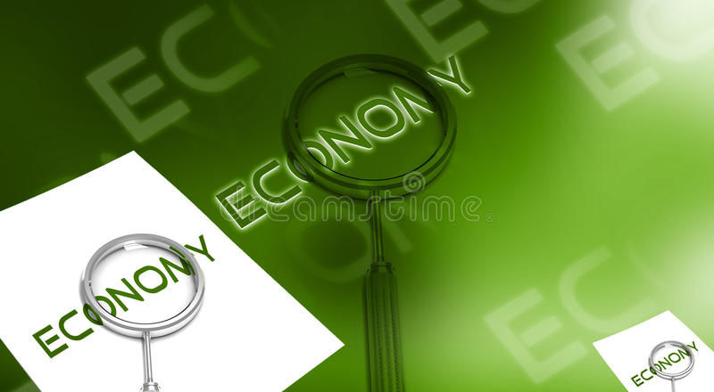Lettre et lance d'économie illustration libre de droits