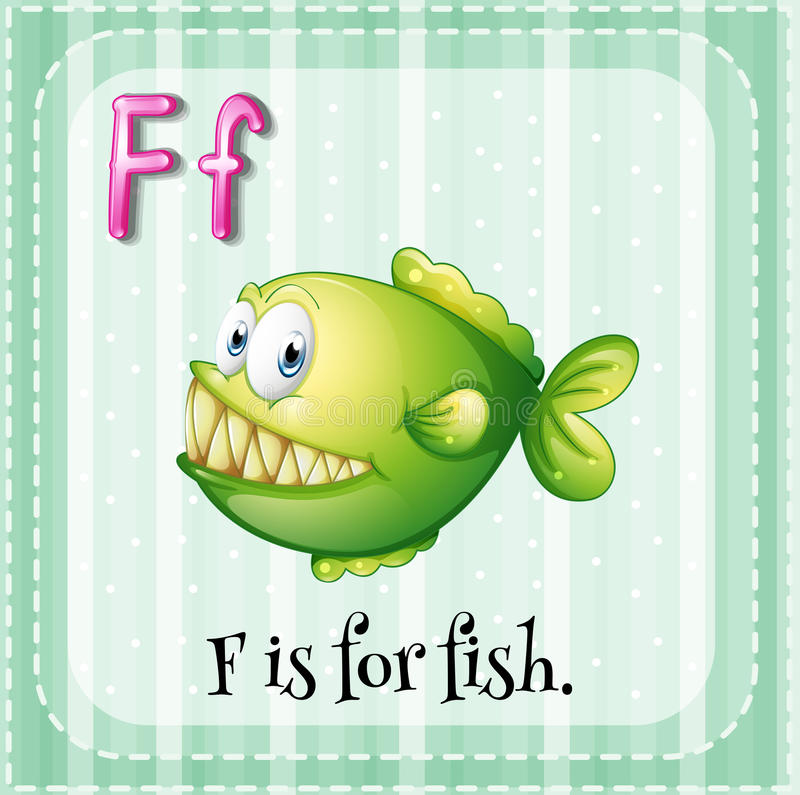 Lettre f illustration stock
