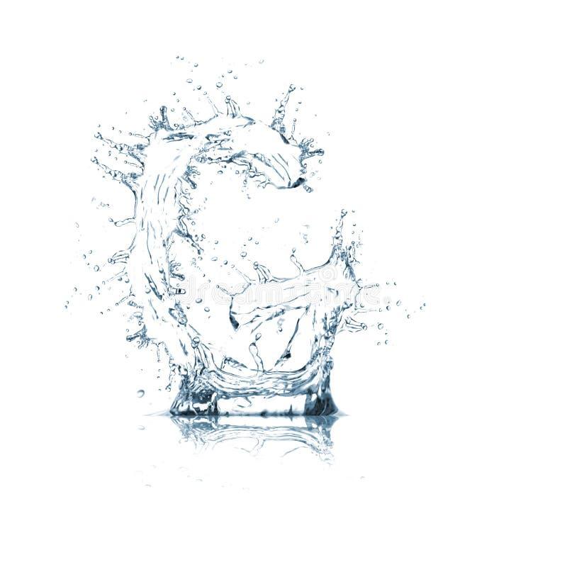 Lettre G d'alphabet de l'eau image libre de droits