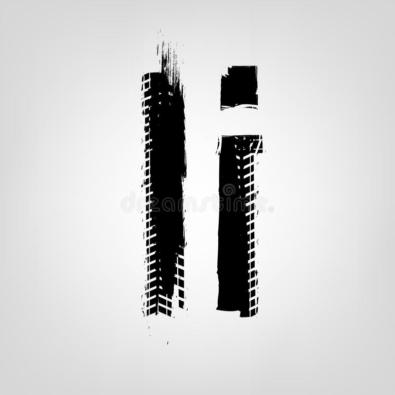 Lettre grunge de pneu illustration stock
