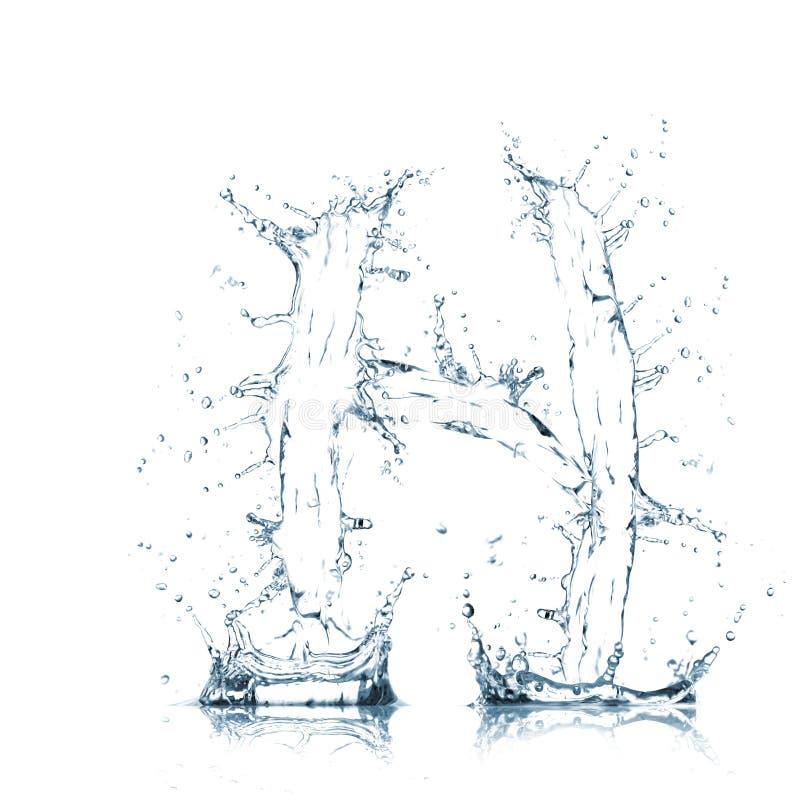 Lettre H d'alphabet de l'eau photo libre de droits