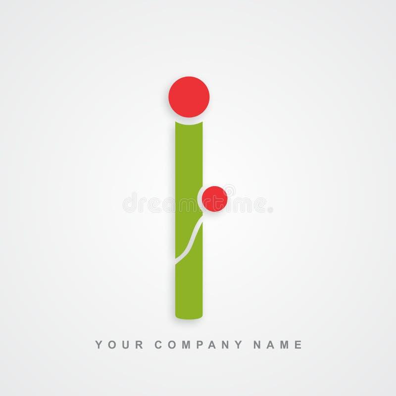 Lettre i de logo de soin de mère illustration libre de droits