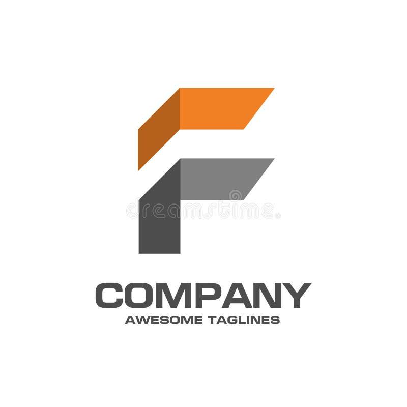 Lettre initiale vecteur moderne et simple de f de logo illustration de vecteur