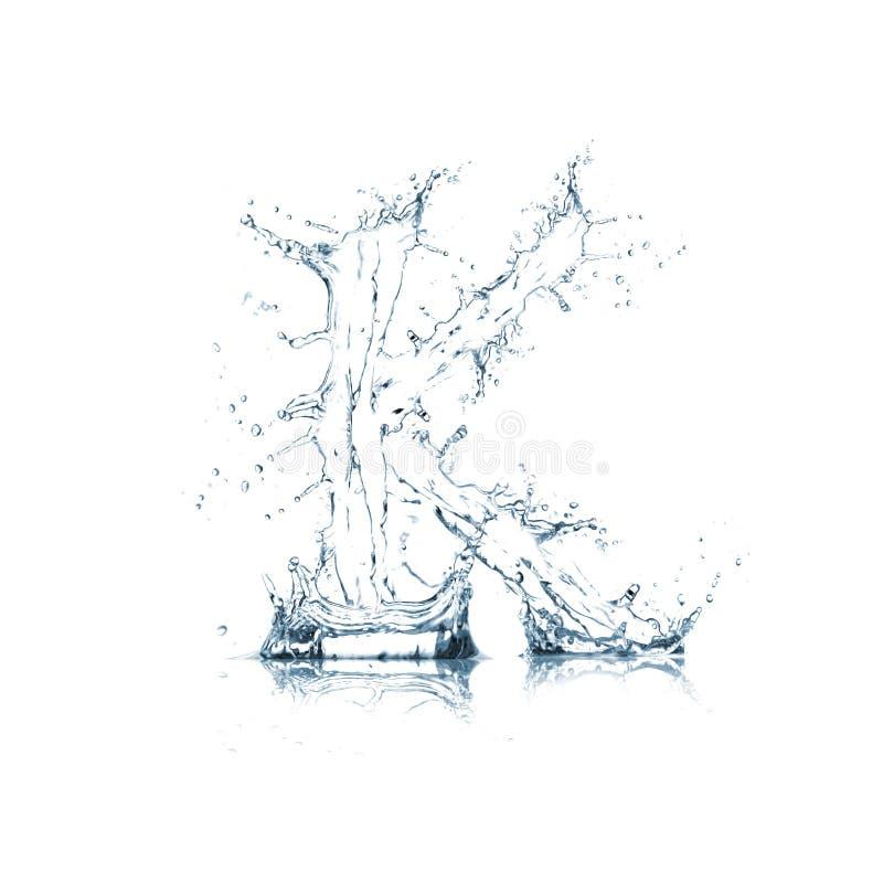 Lettre K d'alphabet de l'eau image libre de droits