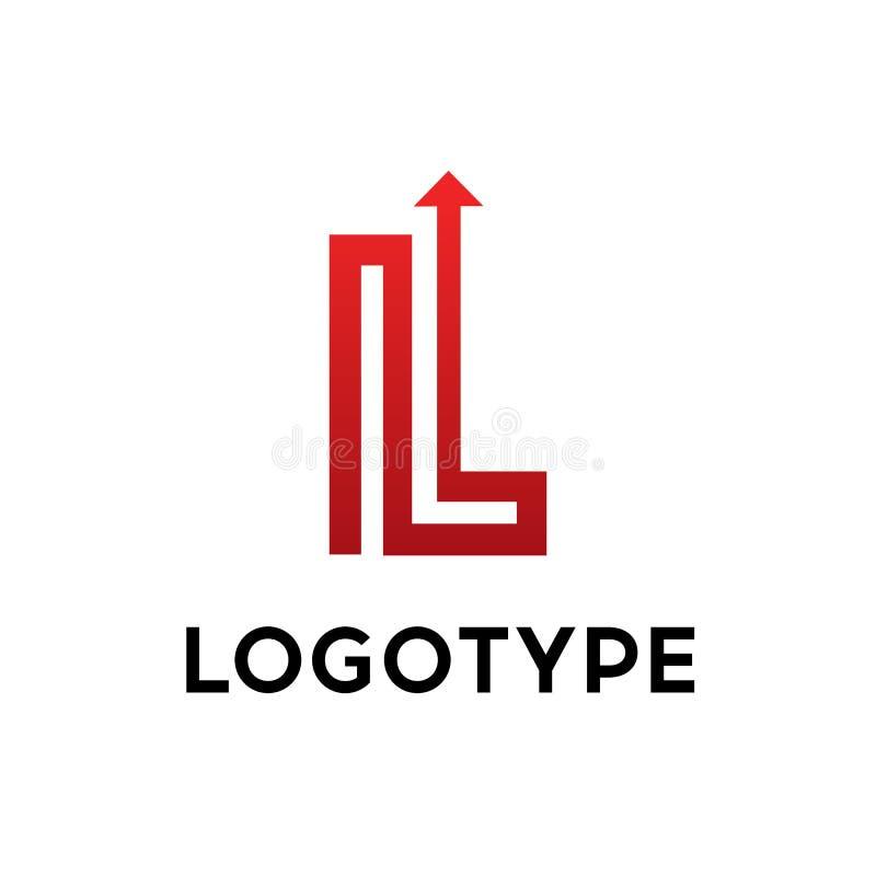 Lettre L éléments de calibre de conception d'icône de logo sur le fond d'isolement illustration de vecteur