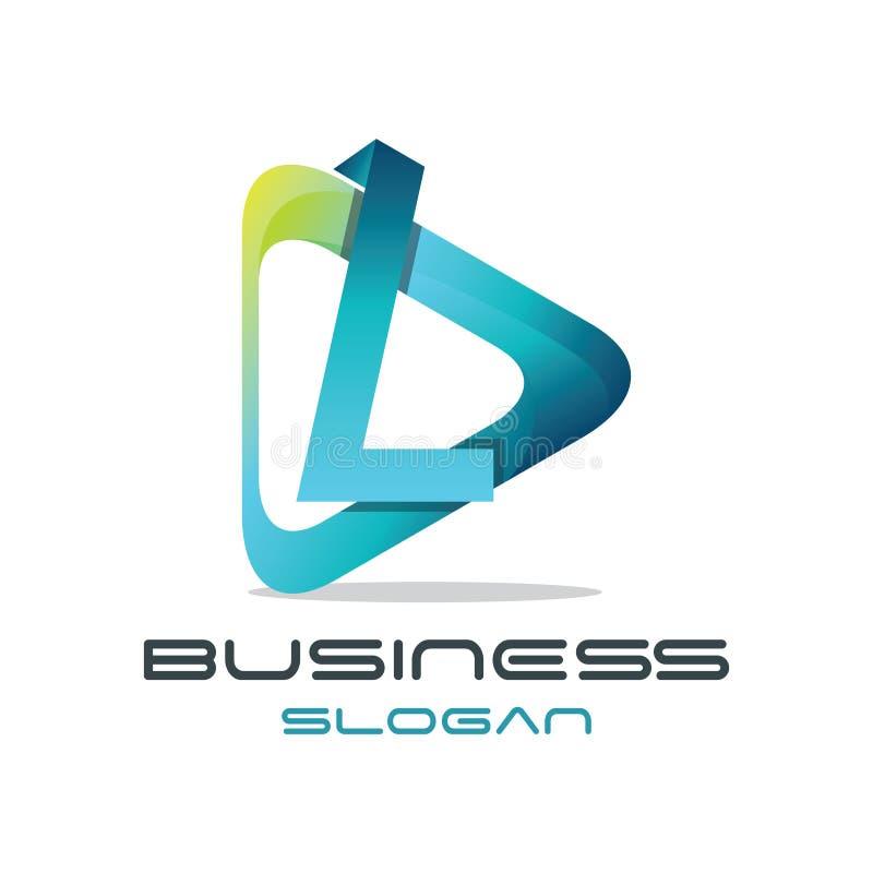 Lettre L logo de media illustration de vecteur