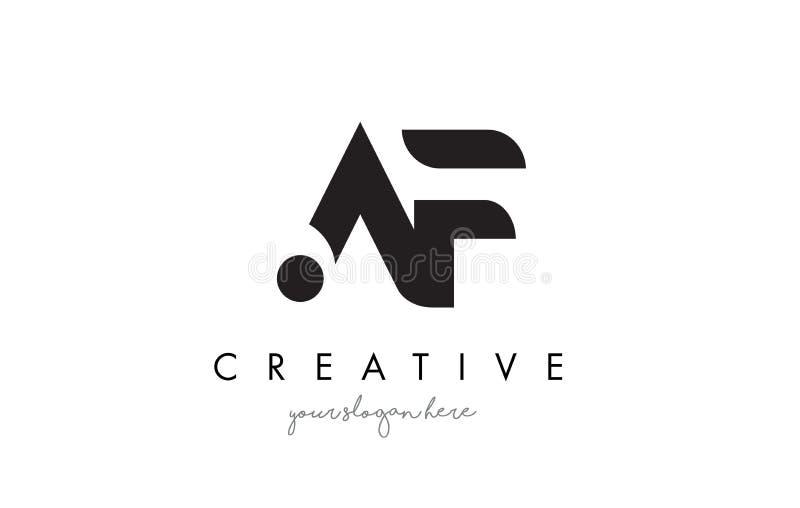 Lettre Logo Design d'AF avec la typographie à la mode moderne créative illustration libre de droits