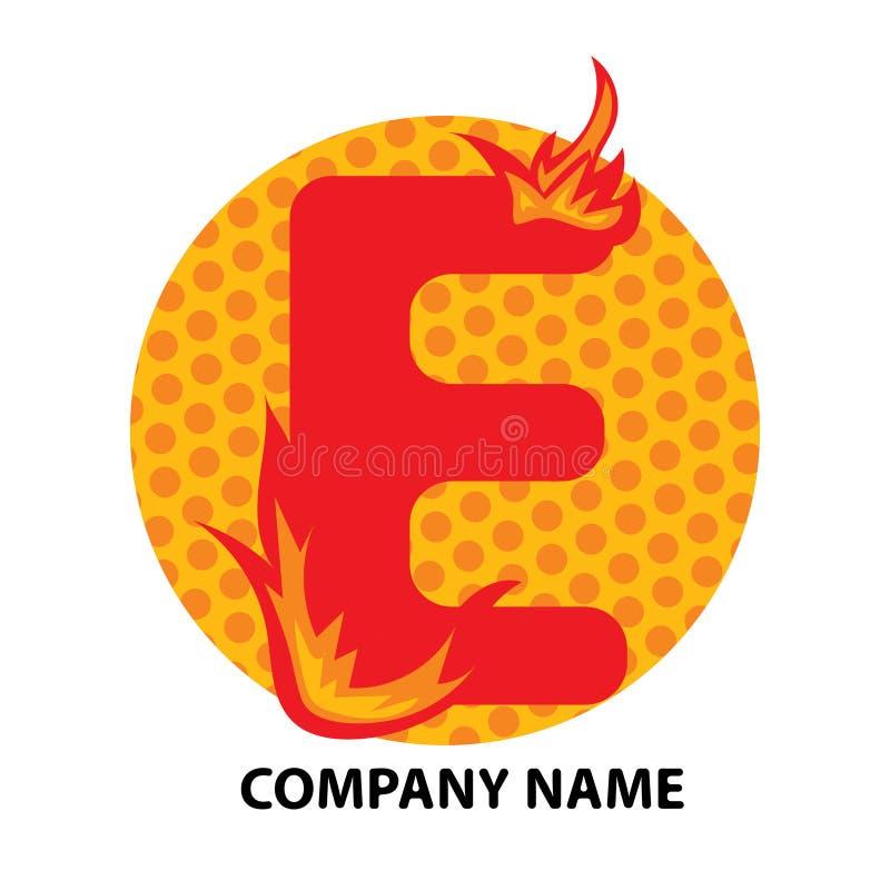 Lettre Logo Design d'E illustration stock