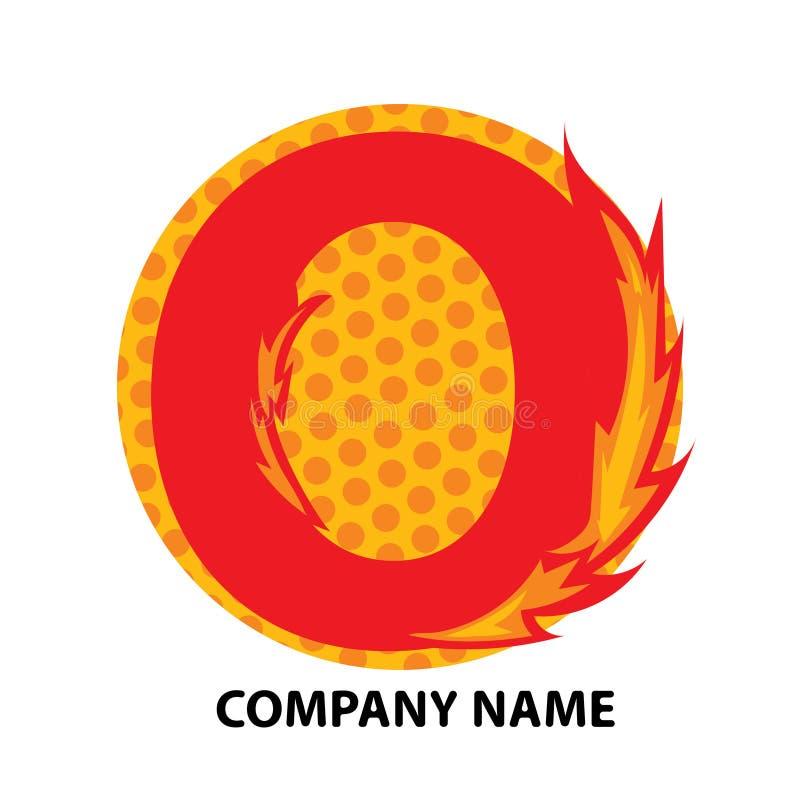 Lettre Logo Design d'O illustration libre de droits