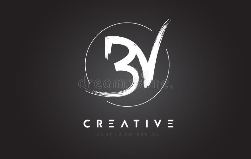 Lettre Logo Design De Brosse De La Bv Logo Manuscrit
