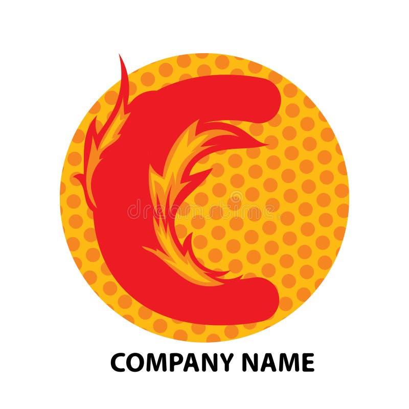 Lettre Logo Design de C illustration stock
