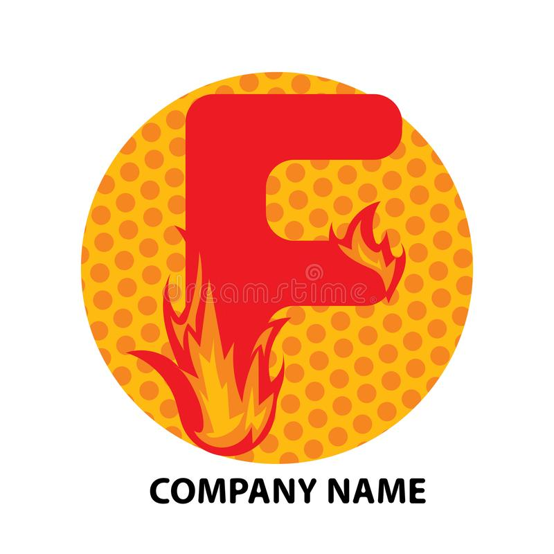 Lettre Logo Design de F illustration libre de droits