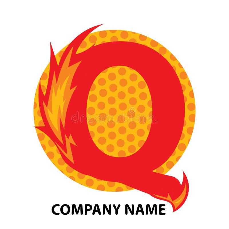 Lettre Logo Design de Q illustration stock