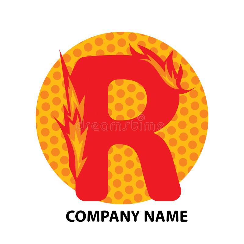 Lettre Logo Design de R illustration de vecteur