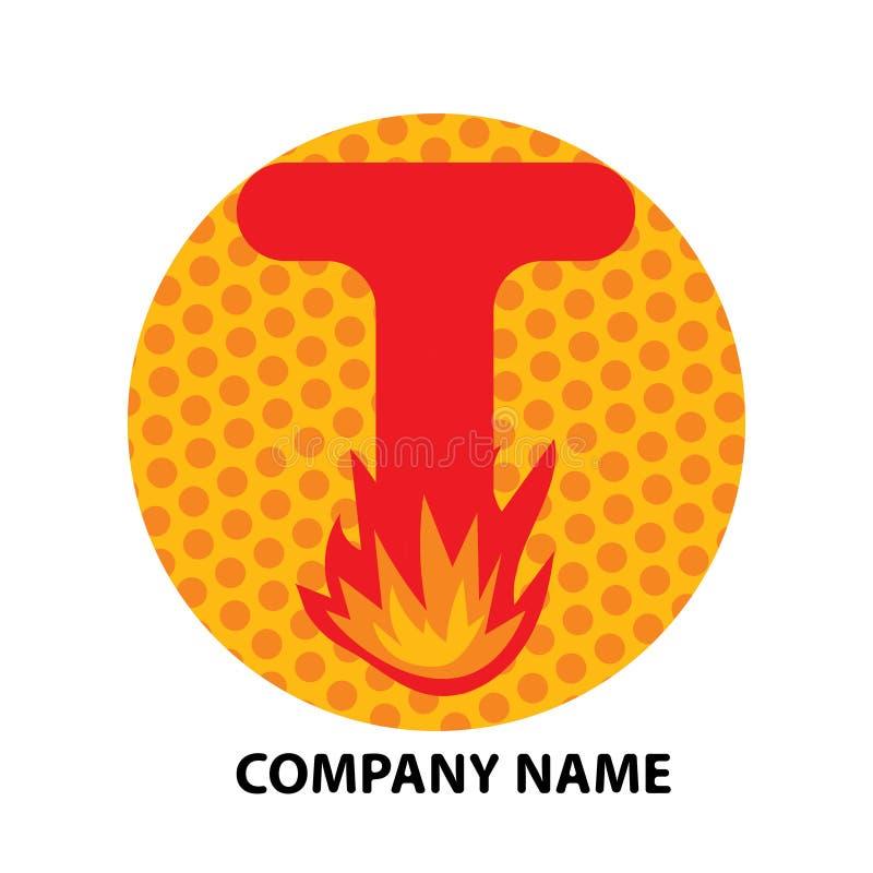 Lettre Logo Design de T illustration libre de droits
