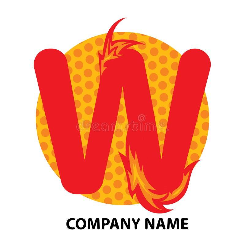Lettre Logo Design de W illustration libre de droits