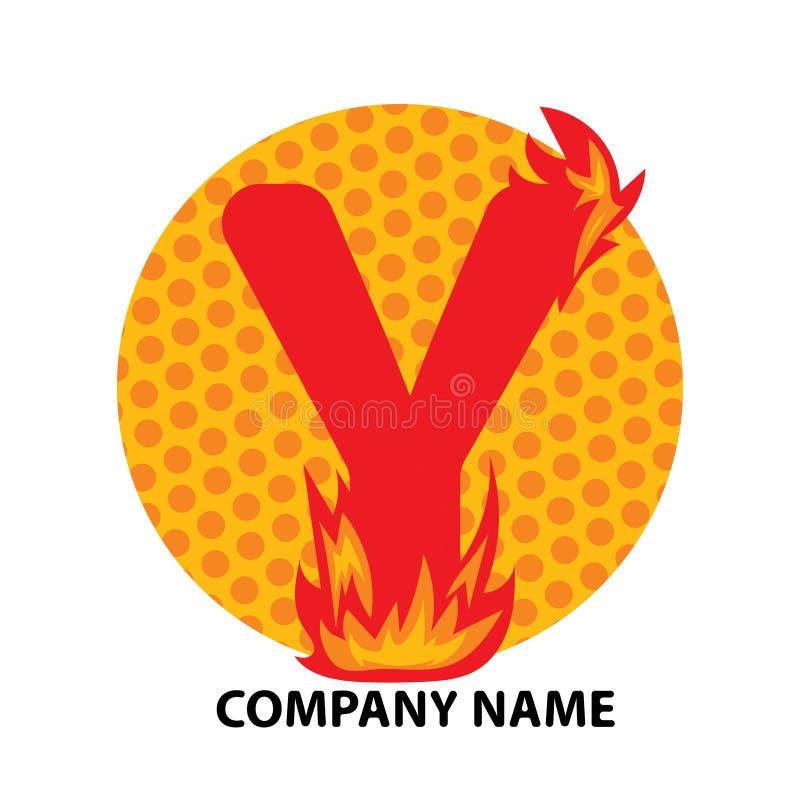 Lettre Logo Design de Y illustration stock