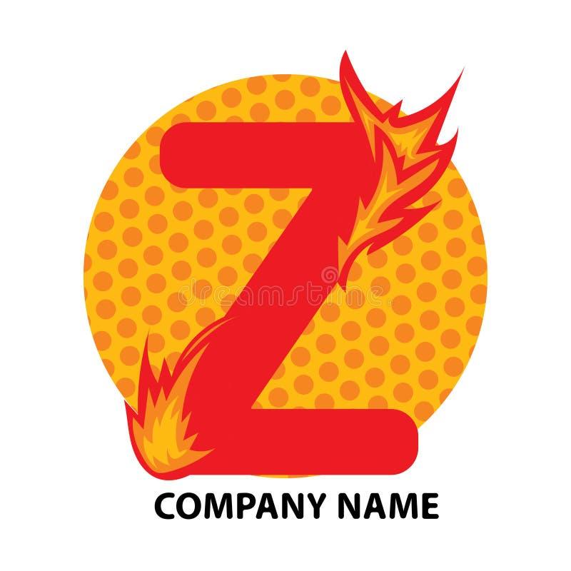 Lettre Logo Design de Z illustration libre de droits