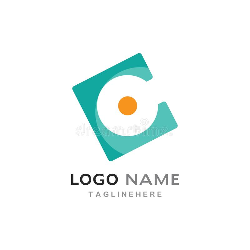 Lettre Logo Template de C illustration de vecteur