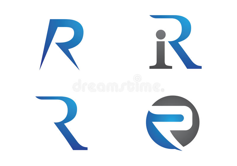 Lettre Logo Template de R illustration stock