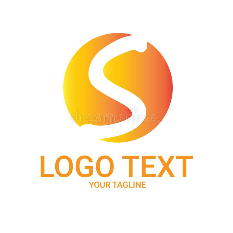 Lettre Logo Vector Template de Sun photographie stock libre de droits