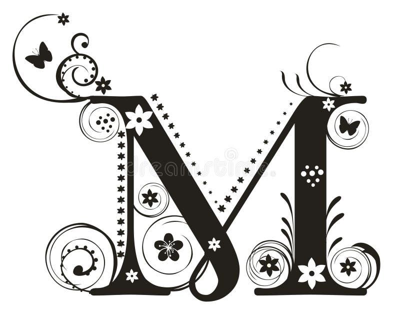 Lettre M illustration libre de droits