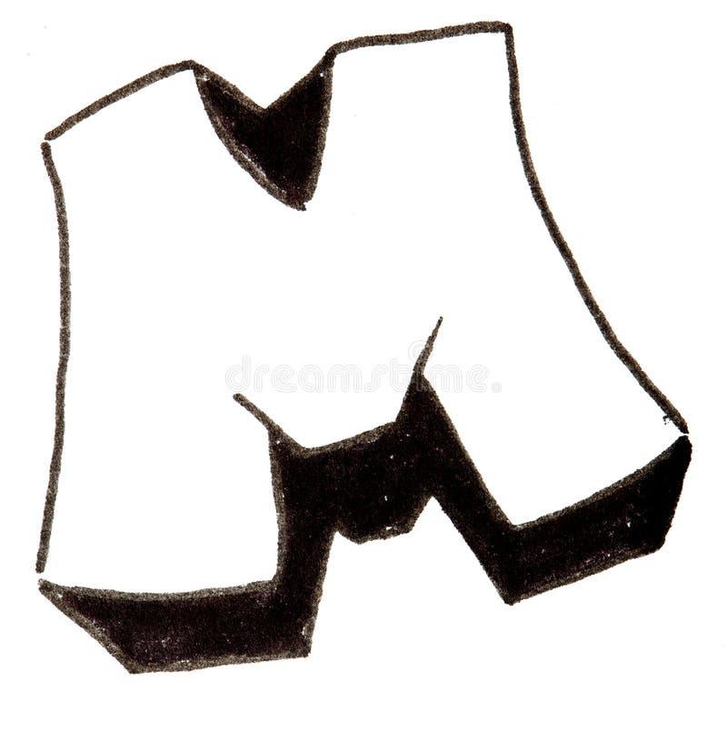 Lettre m alphabet dans le style de graffiti image stock image du type noir 56600535 - Lettre graffiti alphabet ...