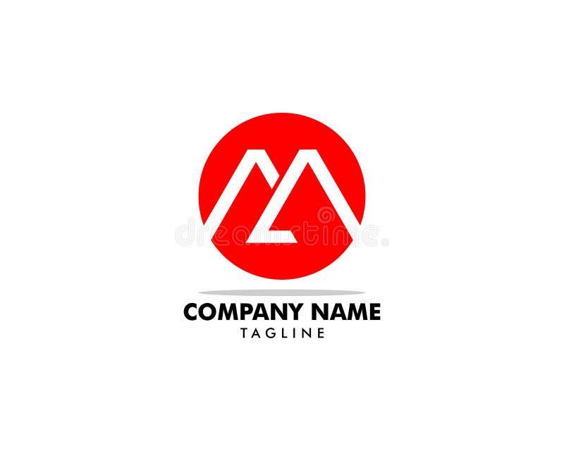 Lettre M Circle Initial Logo Design Template Element illustration libre de droits