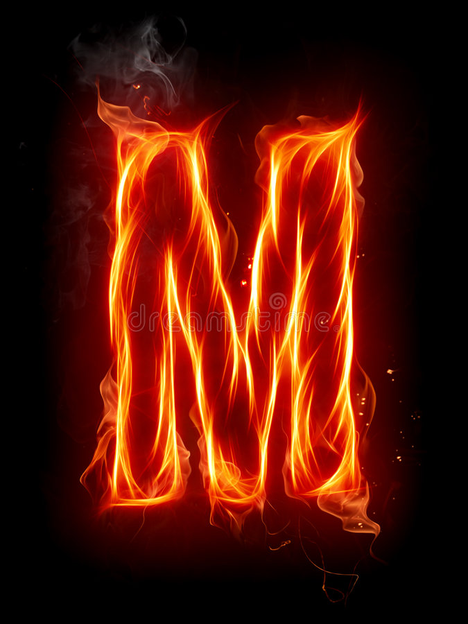 Lettre M d'incendie illustration libre de droits