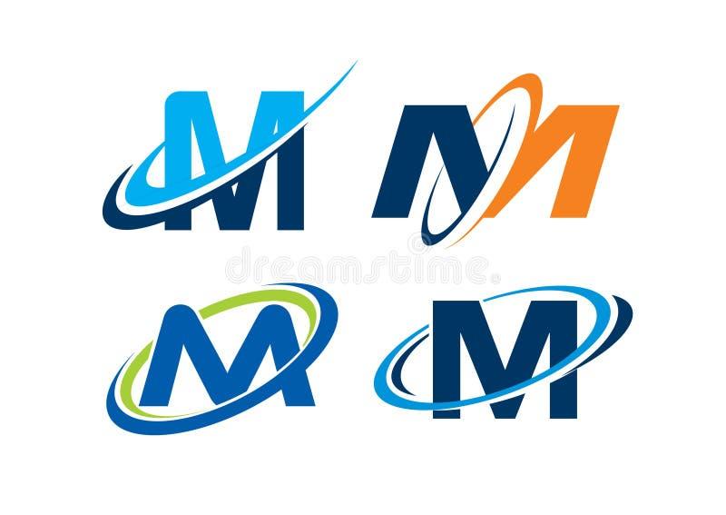 Lettre M Infinity Concept photo stock