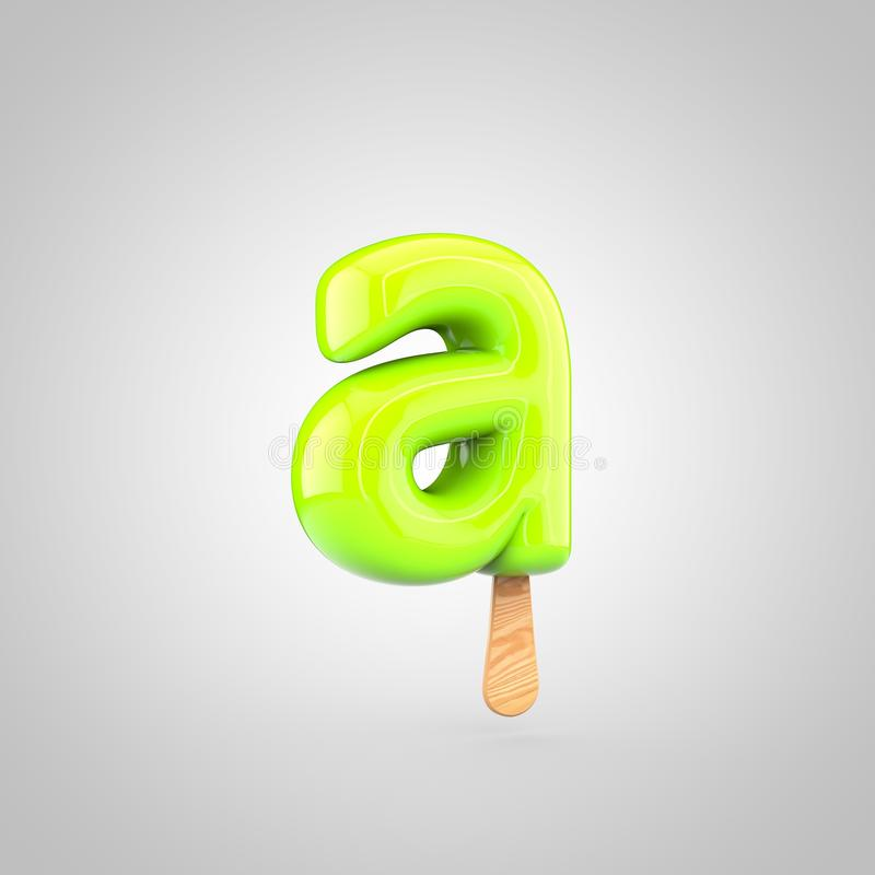 Lettre minuscule de la lettre A de crème glacée d'isolement sur le fond blanc illustration stock