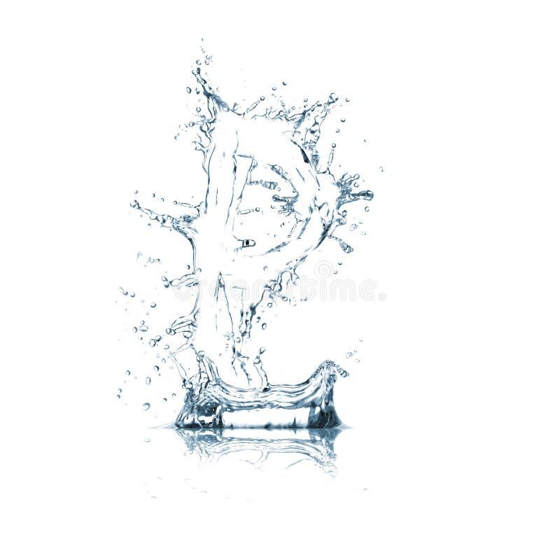 Lettre O d'alphabet de l'eau photo stock