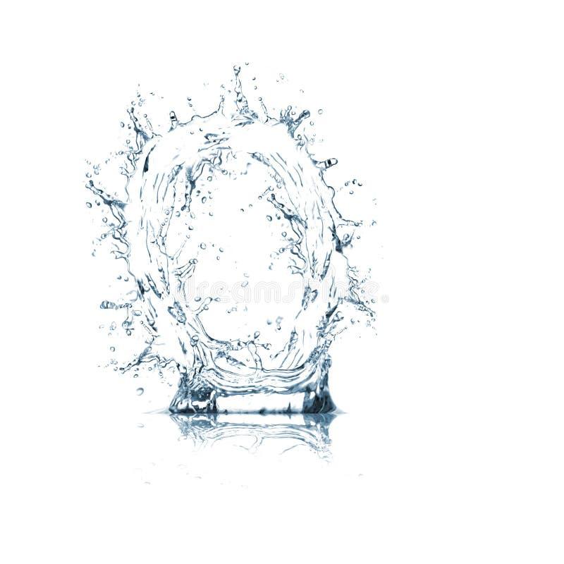 Lettre O d'alphabet de l'eau images stock