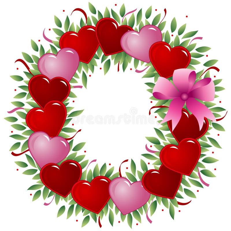 Lettre O - Lettre de Valentine illustration de vecteur