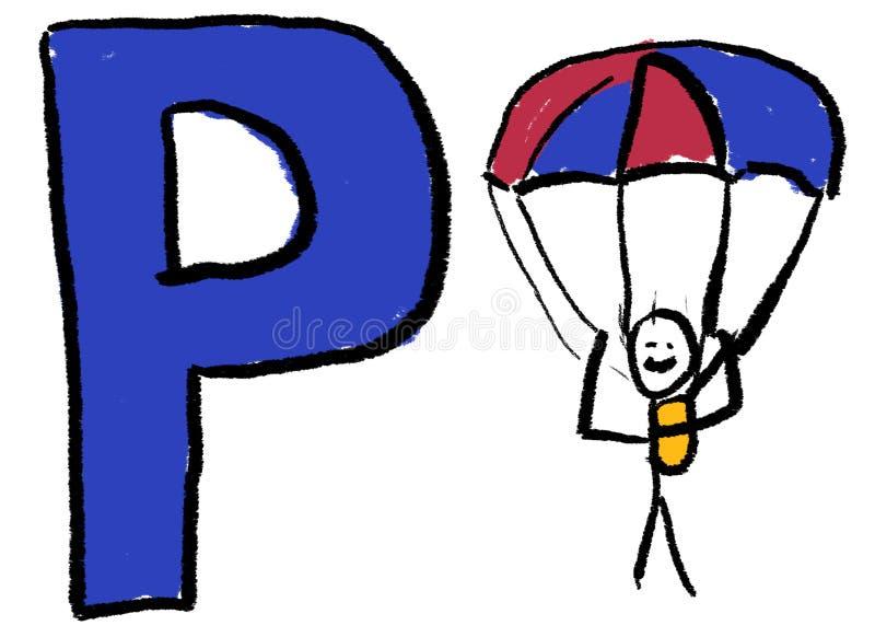 Lettre P illustration libre de droits