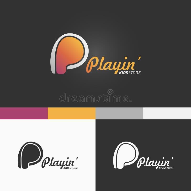 Lettre-p Logo Template Conception moderne d'illustration de concept du vecteur EPS10 photos libres de droits