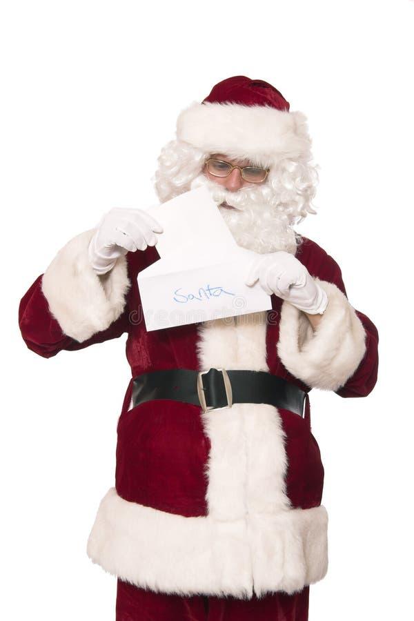 Lettre pour Santa photos stock