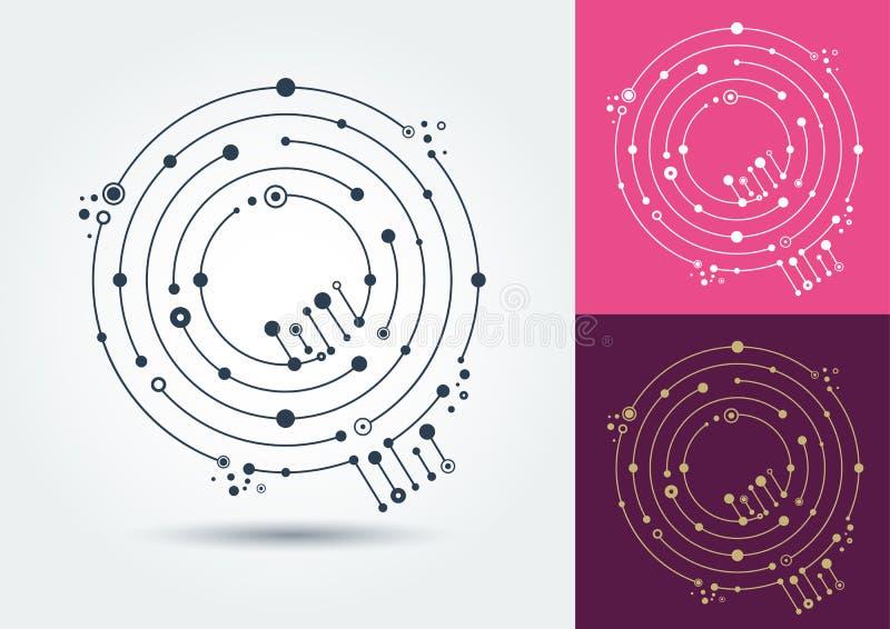 Lettre Q de vecteur Caractère d'isolement et editable dans le style de illustration stock
