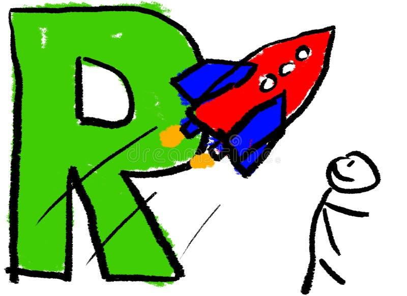 Lettre R illustration de vecteur