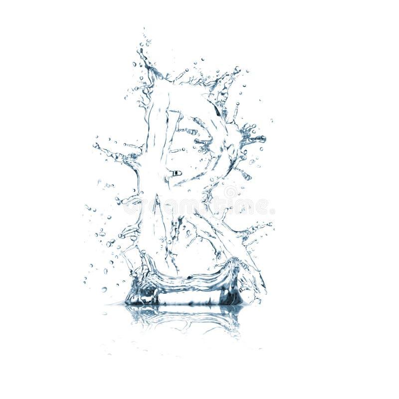 Lettre R d'alphabet de l'eau image stock