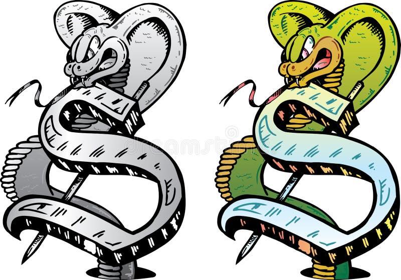 lettre s de type de tatouage illustration de vecteur illustration du serpent cobra 6810239. Black Bedroom Furniture Sets. Home Design Ideas