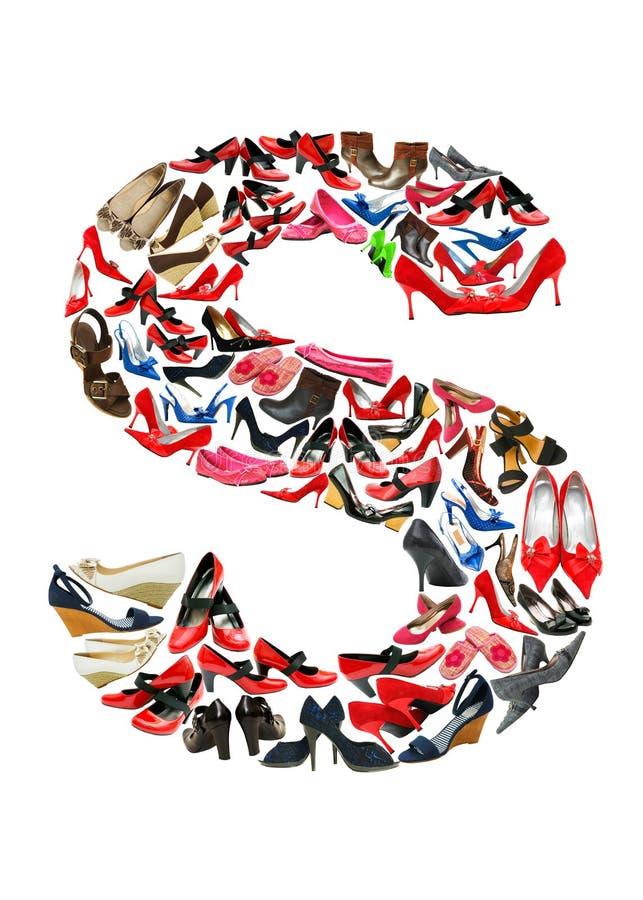 Lettre S faite de chaussures illustration stock