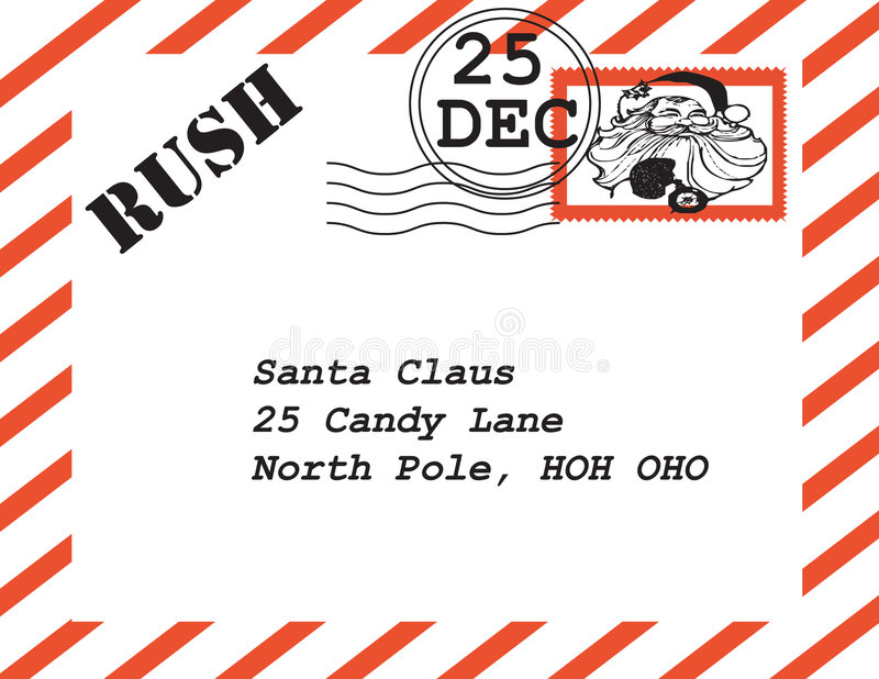 lettre Santa de Claus illustration de vecteur