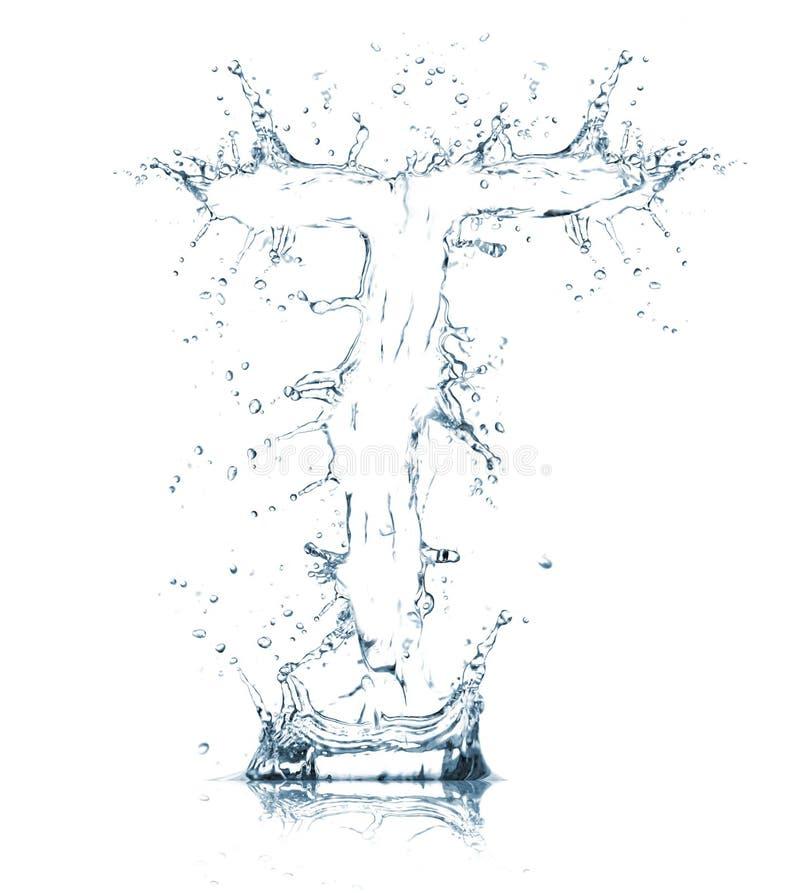 Lettre T d'alphabet de l'eau photo libre de droits